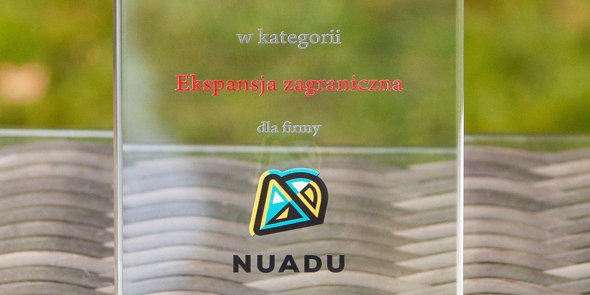Nagroda Polskiej Agencji Inwestycji i Handlu dla NUADU w kategorii Ekspansja Zagraniczna